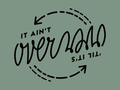 itaintover embroidery lettering