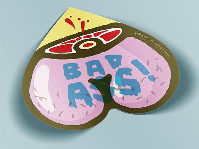 Bad Ass Sticker sticker print illustration