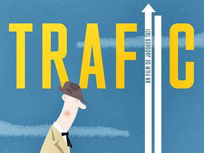 Trafic poster print illustration