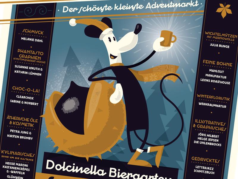 maronimarkt 2019 vector poster print illustration