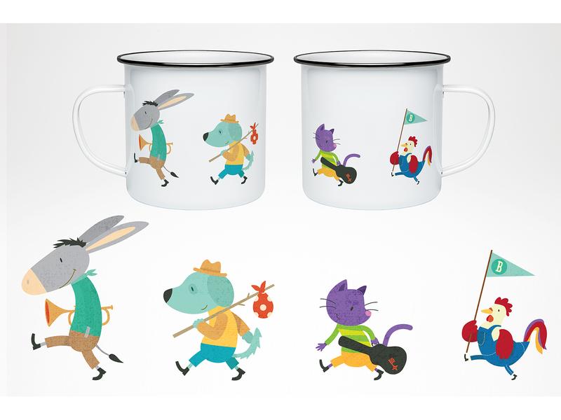 enamel mug vector illustration