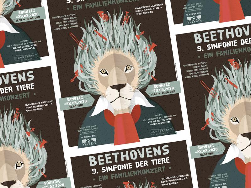 Beethovens 9th Symphony illustration poster