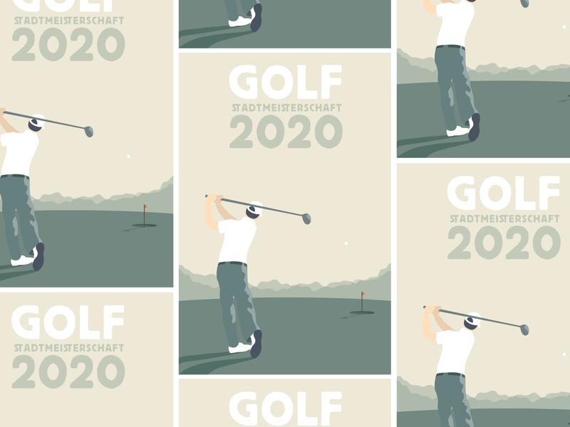 golf 2020 poster vector illustration illustration