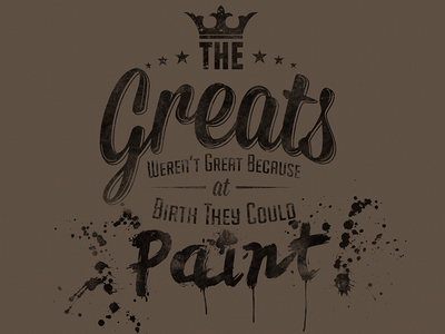 The Greats poster type typography
