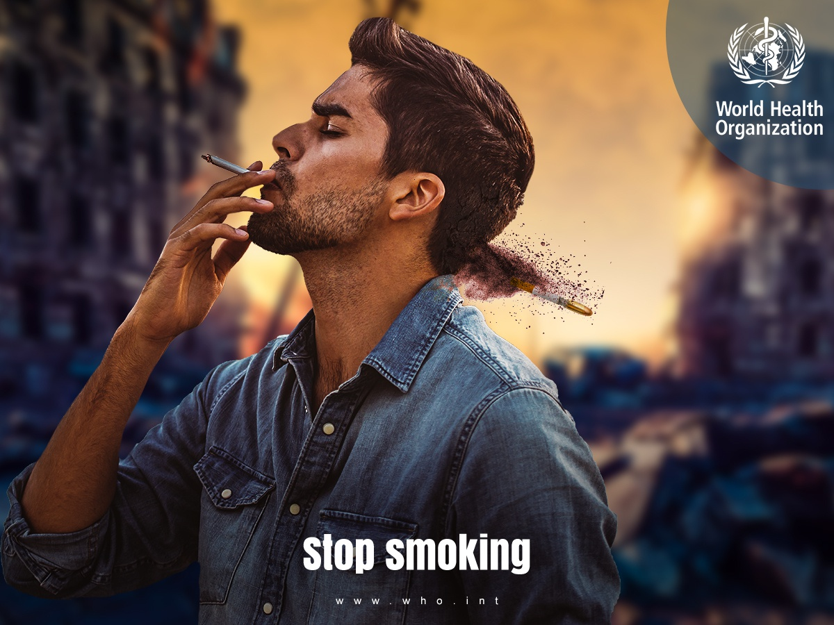 WHO unofficial social media campaign 2019 behance kill smoke no smoking smoking health worlld world health organization who