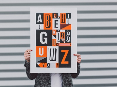 Pedalers Alphabet Poster isadore isadoreapparel cycling poster a2 screenprint handmade