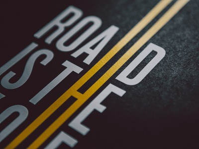 Road Is The Way Of Life Poster  road way life poster screenprint a2 luxury paper black lines isadore isadoreapparel