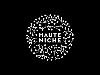 HauteNiche haute niche brand dandelion handmade handcrafted black white circle neutraface
