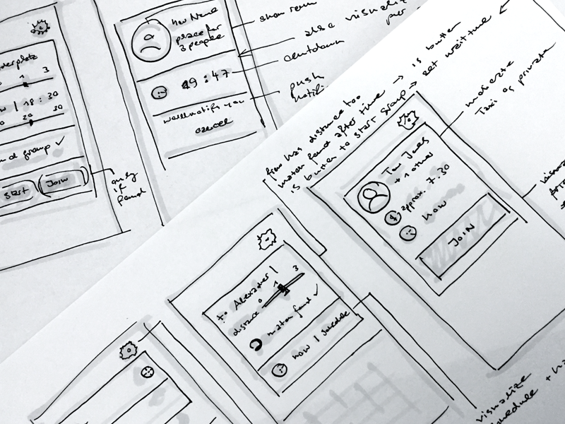 Wireframes for ridesharing App Concept app concept ux ui sketch wireframes