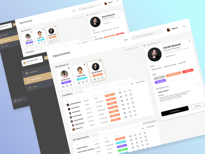 HR Application - Dashboard job application job board dashboard app dashboard ui for hire clean design clean user interface dallastexas startup interface forhire uidesign ui hr minimal