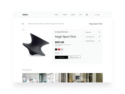 Dribbble Weekly Warm-Up | Luxury Item Page design sketch furniture luxury item dribbble rebound luxury figma ui forhire minimal