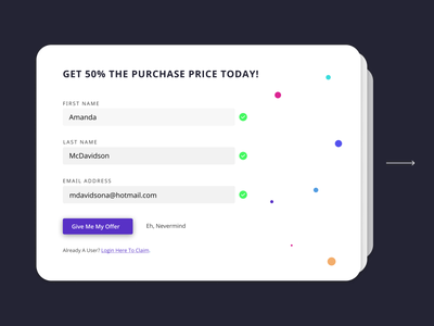 Daily UI - 001 - Signup forhire interface startup minimal white ui clean dailyuichallenge dailyui
