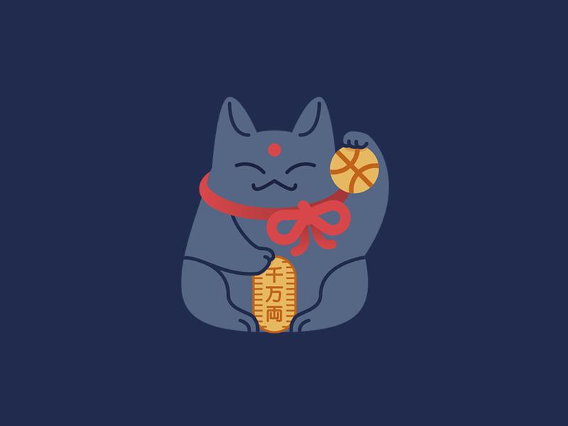 Welcoming cat 🐱 cat maneki neko debut maneki-neko