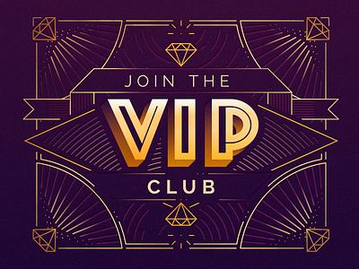 The VIP Club aerolab art déco art deco 💎 diamond premium vip casino gold illustration