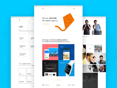 Aerolab's New Home web design landing page colour color illustration doge ui ux redesign aerolab 🐕