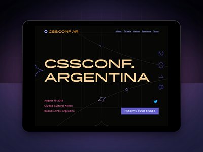 CSSConf. 🇦🇷 2018 lcars diversity website landing event conference conf css cssconf