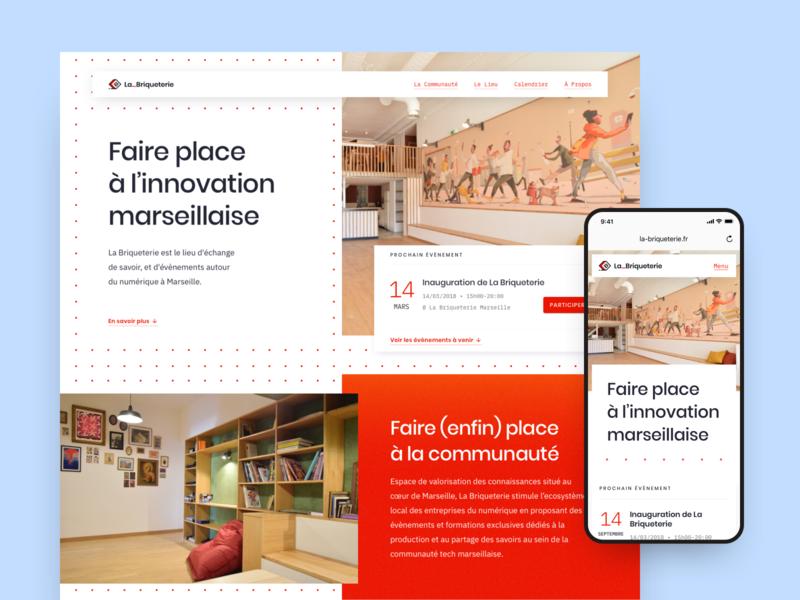 La Briqueterie – Web coworking landing landing design landing page layout grid website design website web branding brand identity brand art direction