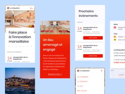 La Briqueterie – Web mobile