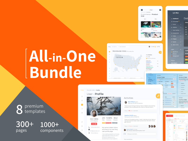 Bundle component library components bundle dashboad admin dashboard admin template template art graphic design design