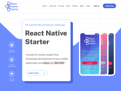 React Native designs, themes, templates and downloadable graphic