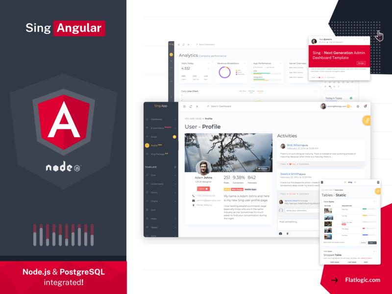 Angular Admin Template nodejs angular ui  ux ui illustration admin template dashboad article blog graphic design design