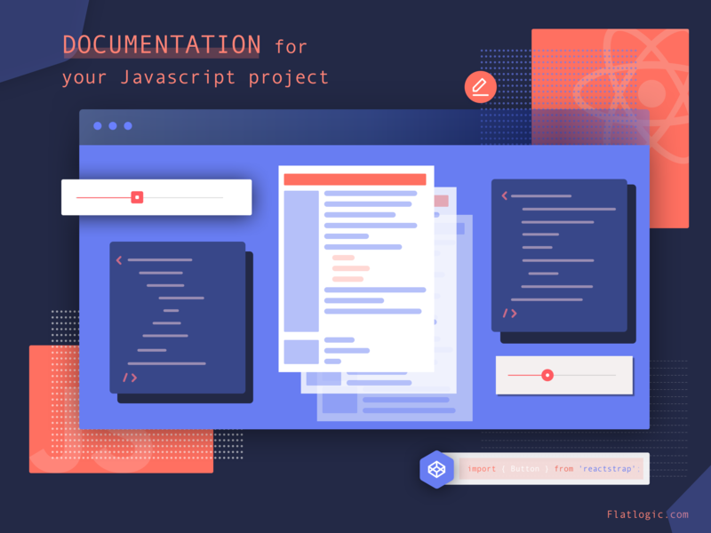 Documentation JS by Natalie Yermolenka for Flatlogic on Dribbble