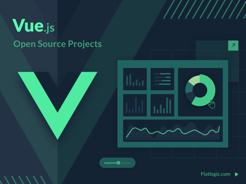 Vue Open Source ui ui  ux technology vue illustration blog admin template article dashboad graphic design design