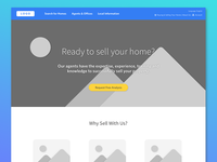 Real Estate Landing Page - Wireframes