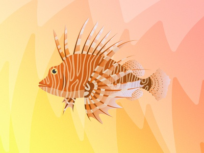 Gillustrations - Lion Fish sea ocean illustration gradient gillustrations gillustration gills profile fish fins lionfish