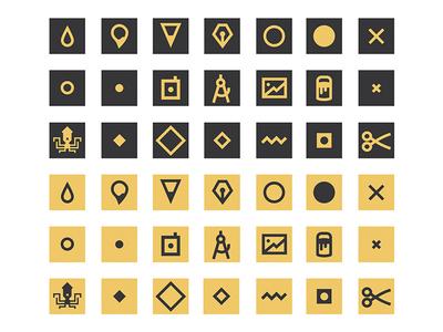 Ink Casket - Glyphs branding minimal design icons glyphs