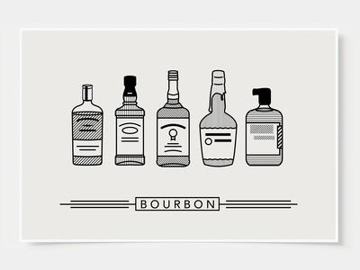 Bourbon - Bar Poster