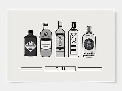 Gin - Bar Poster