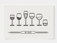 Wine Glass Designs - Poster