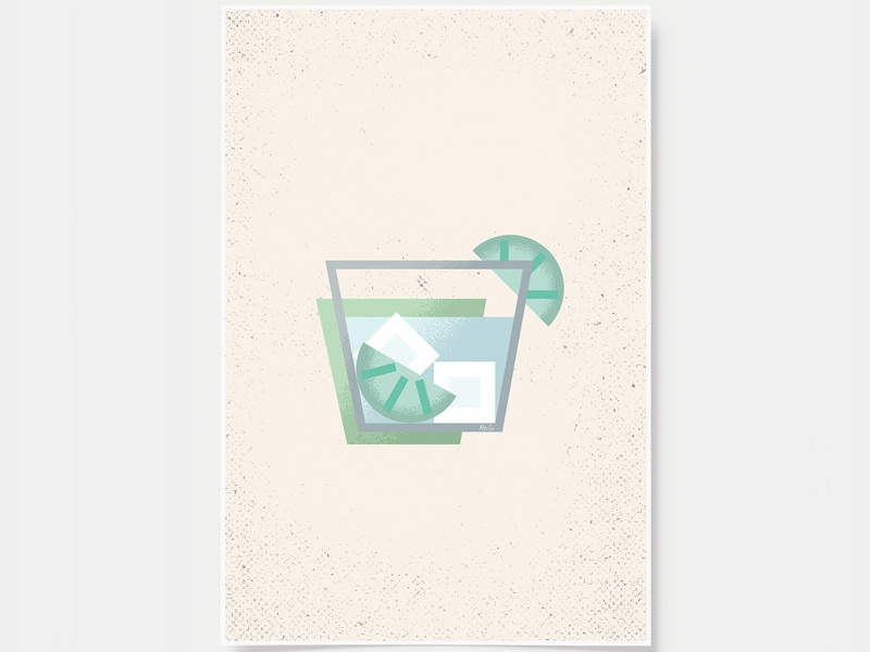 Gin and Tonic - Cocktail Poster minimal art prints bar posters wall posters cocktails gin and tonic ink casket wall art print poster bottles alcohol illustration flat design minimal art cocktail black and white line illustration