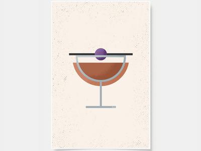 Manhattan - Cocktail Poster