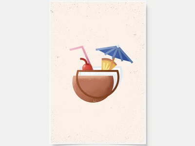Pina Colada - Cocktail Poster
