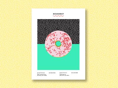 Dough-Doughnut poster fun sprinkles color doughnut