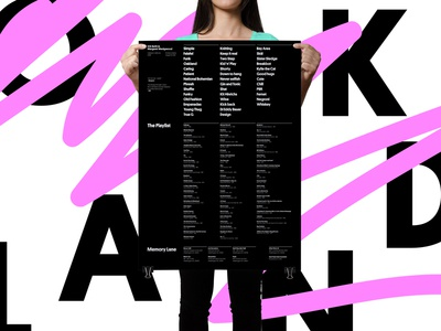 For the funk of M & E  black simple layout swiss grid poster