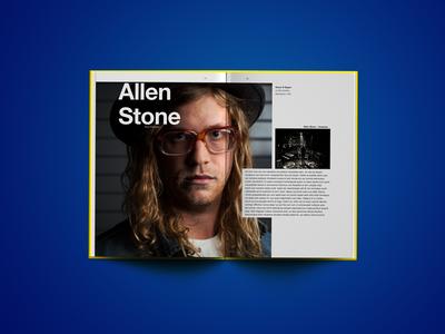 Allen Stone spread typography swiss grid layout spread