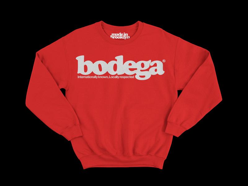 Bodega crew logo merch swag clothing clothes brand typogaphy