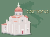 Cortona Italy Illustration