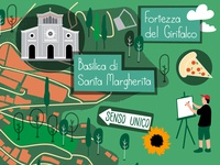 Map illustration of Cortona, Italy