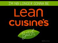 Lean Cuisine lettering