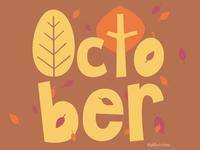October lettering