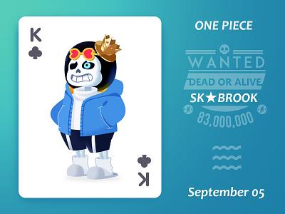 Brook!~ sans undertale 布鲁克 brook one piece illustration