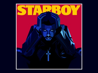 The Weeknd cd 威肯 starboy the weeknd illustration