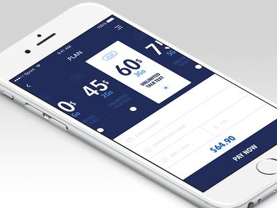 Wireless service app - Plan selection