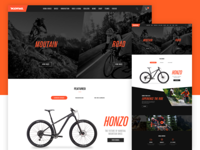 Kona website redesign concept