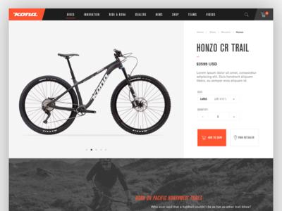 Kona website - Product page