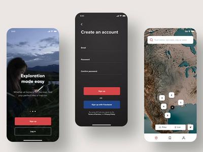 Trailing App • Onboarding + Signup Flow